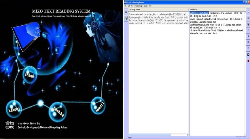 Mizo Text Reading System